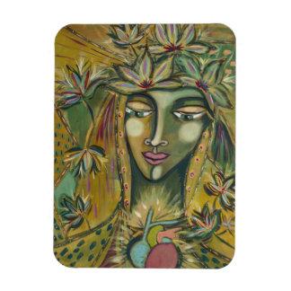 Maple Leaf Goddess Kitchen Magnet