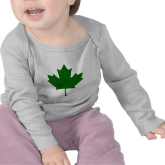 Maple Leaf Green DkTransp The MUSEUM Zazzle Gifts T-shirt