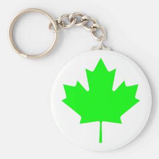 Maple Leaf Green LtTransp The MUSEUM Zazzle Gifts Key Chains