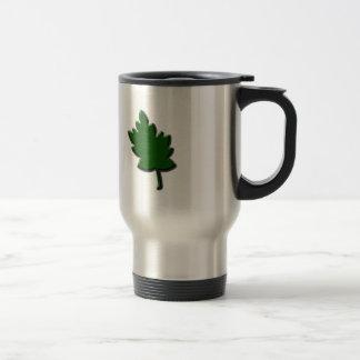 maple leaf green coffee mug