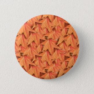 maple leaf in the autumn 6 cm round badge