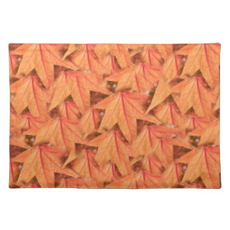 maple leaf in the autumn placemat