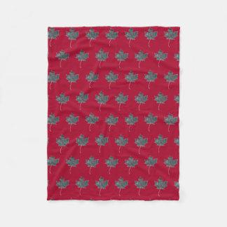 Maple Leaf  Monoprint Blanket