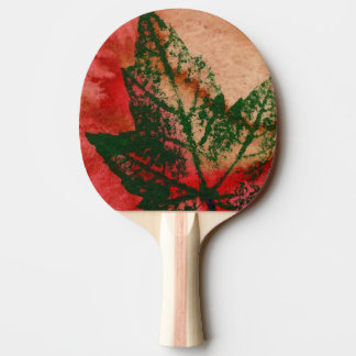 """Maple leaf nature print red botanical nature. Ping Pong Paddle"