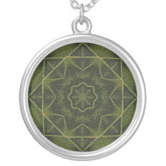 Maple Leaf Round Pendant Necklace