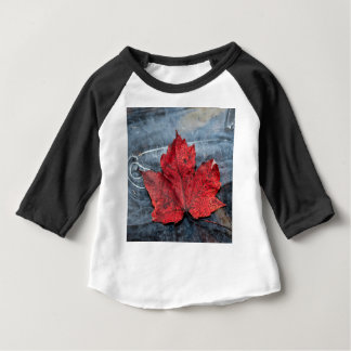 Maple leaf on ice baby T-Shirt