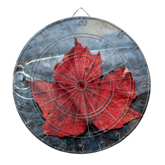 Maple leaf on ice dartboard