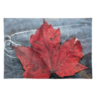 Maple leaf on ice placemat