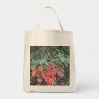 Maple Leaf Organic Grocery Tote Grocery Tote Bag