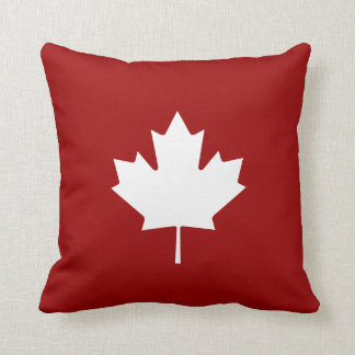 Maple Leaf Pictogram Throw Pillow