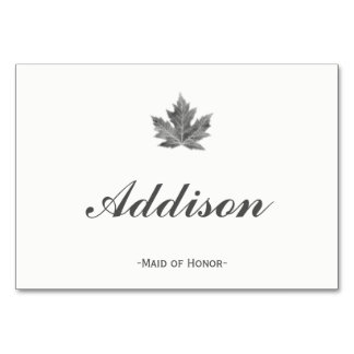 Maple Leaf Place Cards