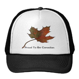 Maple Leaf: Proud To Be Canadian: Artwork Cap