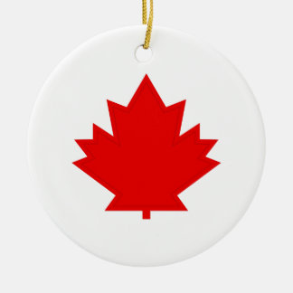 Maple Leaf Round Ceramic Decoration