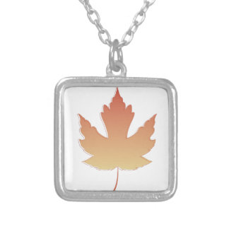 Maple Leaf Silver Plated Necklace