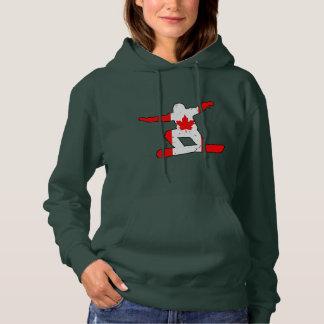 Maple Leaf SNOWBOARDER (blk) Hoodie