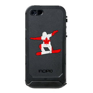 Maple Leaf SNOWBOARDER (blk) Incipio ATLAS ID™ iPhone 5 Case