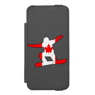 Maple Leaf SNOWBOARDER (blk) Incipio Watson™ iPhone 5 Wallet Case