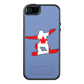 Maple Leaf SNOWBOARDER (blk) OtterBox iPhone 5/5s/SE Case