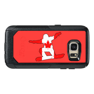 Maple Leaf SNOWBOARDER (blk) OtterBox Samsung Galaxy S7 Case