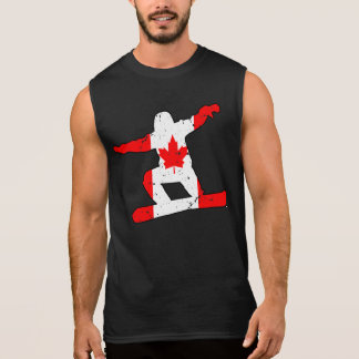 Maple Leaf SNOWBOARDER (blk) Sleeveless Shirt