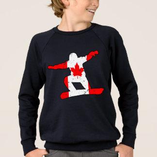Maple Leaf SNOWBOARDER (blk) Sweatshirt