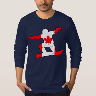 Maple Leaf SNOWBOARDER (blk) T-Shirt