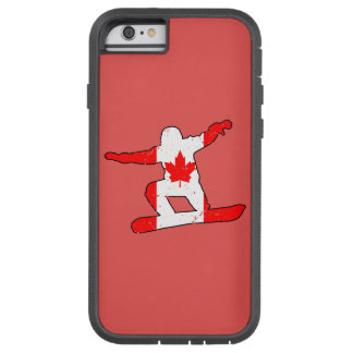 Maple Leaf SNOWBOARDER (blk) Tough Xtreme iPhone 6 Case