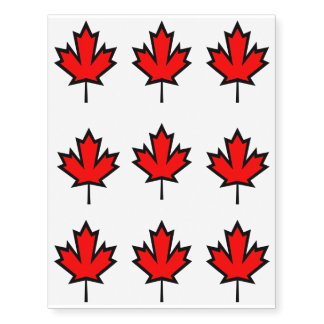 Maple Leaf Temporary Tattoos
