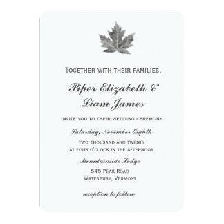 Maple Leaf Wedding Invitation