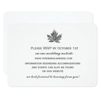 Maple Leaf Wedding Reception Card