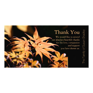 Maple Leaves 3 Sympathy Thank You Note Card Photo Card