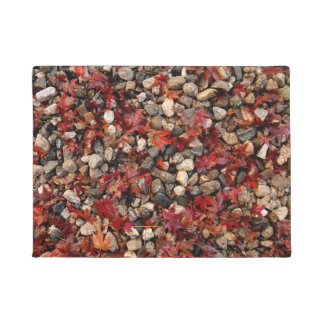 Maple Leaves and Stones Doormat