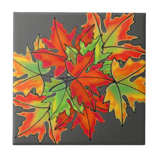 Maple Leaves- colorful leaves Tile