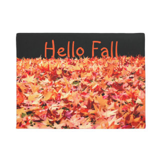 Maple Leaves - Customizable Text Doormat