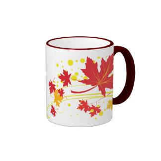 Maple leaves in fall colors custom mug