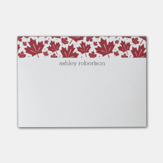 Maple Leaves Personalized Post-it Notes