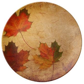 Maple Leaves Porcelain Plate