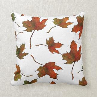 Maple Leaves: Random Pattern: Original Art Cushion