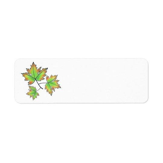 Maple leaves return address label