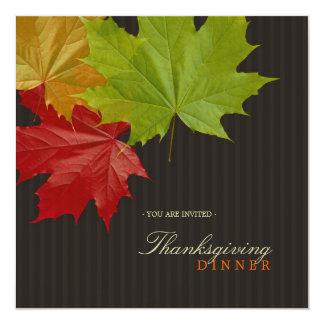 Maple Leaves Thanksgiving Dinner invitation