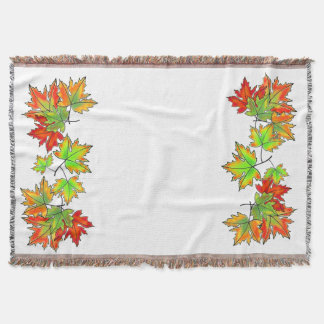 Maple leaves throw blanket