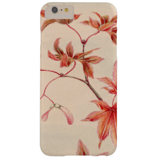 Maple leaves (Vintage Japanese print) Barely There iPhone 6 Plus Case