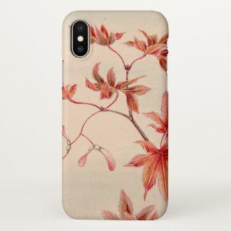 Maple leaves (Vintage Japanese print) iPhone X Case