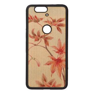 Maple leaves (Vintage Japanese print) Wood Nexus 6P Case