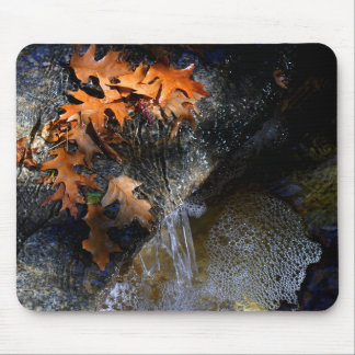 Maple Leaves, Waterfall Mouse Pad