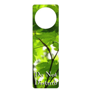 Maple Leaves with Raindrops Door Hangers