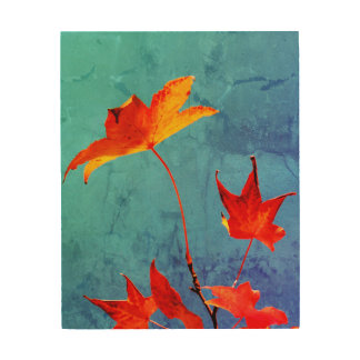 Maple Leaves Wood Wall Decor