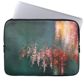 Maple reflections abstract laptop sleeve