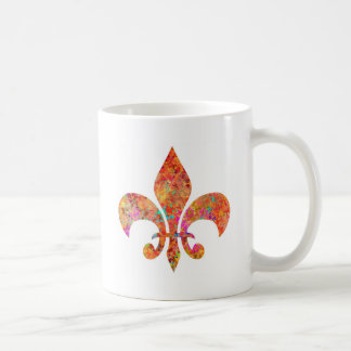 Maple Star Designer Fleur-de-Lis Basic White Mug