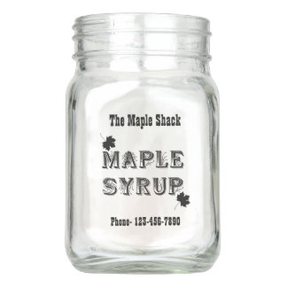 Maple Syrup 12 Oz Mason Jar